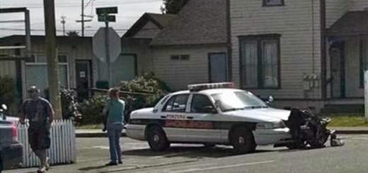 fortuna california police cruiser in accident