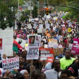 People Protest new york Respect Human Rights
